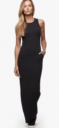 James Perse Sleevless Maxi Dress French Navy $225