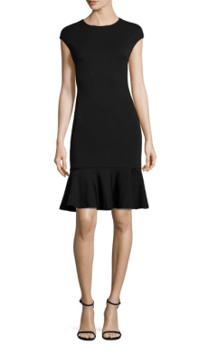 POLO Ralph Lauren Ruffle Hem Ponte Dress $298