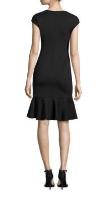 POLO Ralph Lauren Ruffle Hem Ponte Dress Back $290
