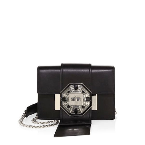 PRADA Handbags New Introductions City Crystal-Buckle Leather Crossbody
