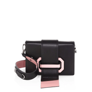 Prada City Two-Tone Leather Crossbody Nero $2,160