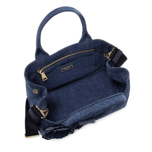 Prada Denim Bleu Tote Open $1,170