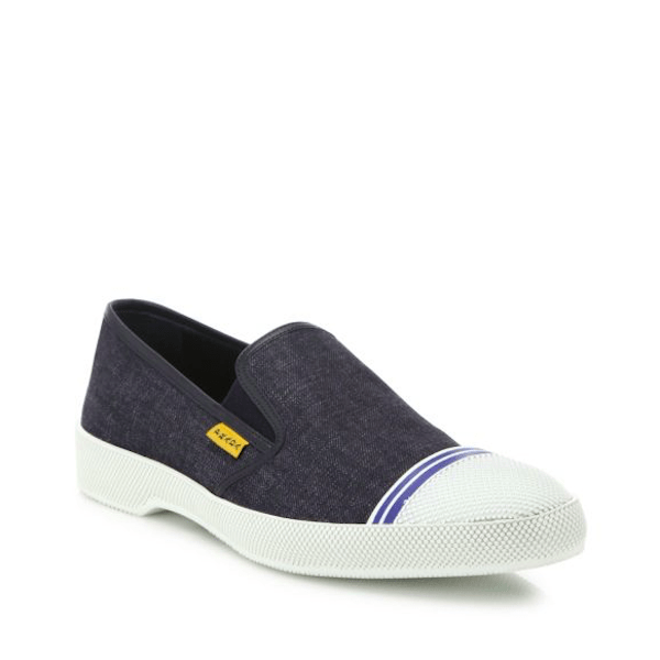 Prada Men's Fashion Sneakers Denim Slip-On Sneakers $530