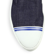 Prada Denim Slip-On Sneakers Closeup $530