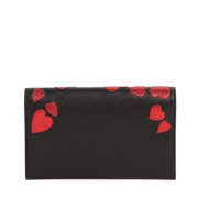 Saint Laurent Kate Monogram Heart Leather Clutch Back $1,550