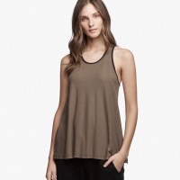 James Perse Contrast Ringer Tank Platoon:Carbon $95