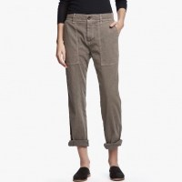 James Perse Cotton Linen Relaxed Pant Khaki Pigment $225