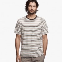 James Perse Retro Stripe Pocket Tee Oatmeal:Palamino $85