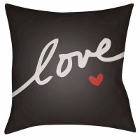 Surya Love Forever Throw Pillow Black $39.99