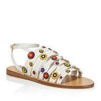 Tory Burch Marguerite Floral Strappy Sandal Ivory $275