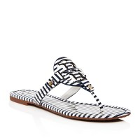 Tory Burch Miller Striped Thong $195