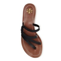 Tory Burch Patos Thong Sandal Black Top $195