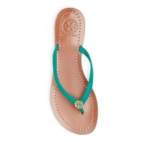 Tory Burch Terra Flip Flops Jungle Teal Top $125
