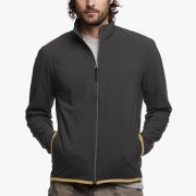 James Perse Performance Jersey Zip-Up Jacket Slate:Pollen $350