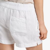 James Perse Canvas Linen Short Back White, $165