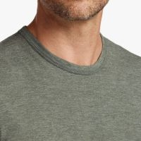 James Perse Melange Tech Jersey Tee Side Evergreen, $95
