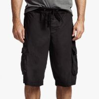 James Perse Stretch Poplin Cargo Short Black $175