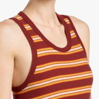 James Perse Vintage Stripe Tank Dress Neck Boardwalk Stripe $245