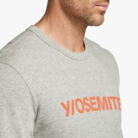 James Perse Y:Osemite Graphic Tee Side Heather Grey:Basketball, $70