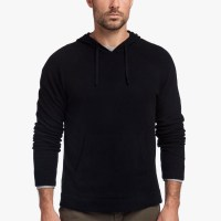James Perse Cashmere Pullover Hoodie Black $450
