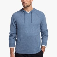 James Perse Cashmere Pullover Hoodie Denim $450