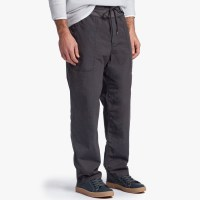 James Perse Mixed Media Poplin Pant Carbon $265