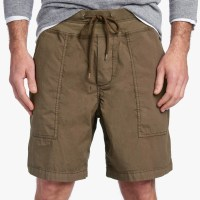 James Perse Mixed Media Poplin Short Army Green $225