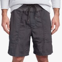 James Perse Mixed Media Poplin Short Carbon $225