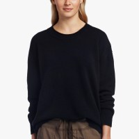 James Perse Oversized Cashmere Sweater Black Heather Grey $375