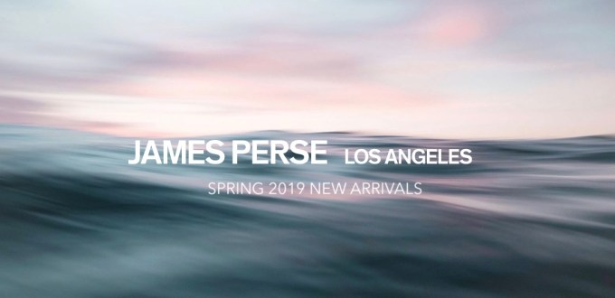 James Perse Spring 2019 New Arrivals Feature Banner