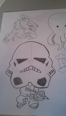 dibujando personajes para videojuegos