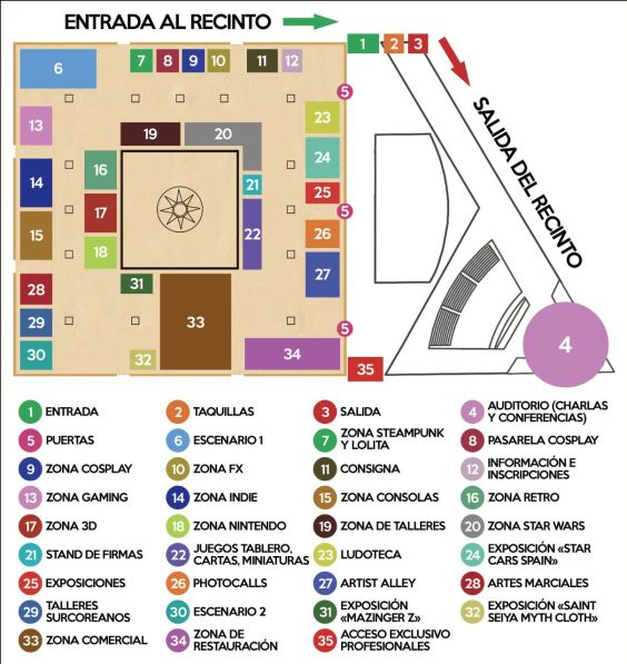 mapa gamercon 2015 jeréz