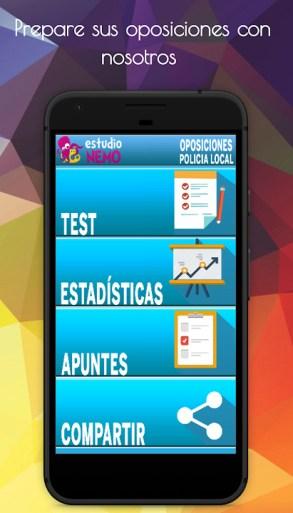 app de test para oposiciones a policia local