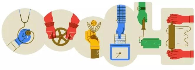 google doodle dia do trabalhador