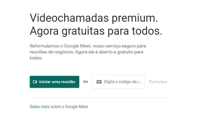 google meet como usar
