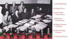 PADRES DE LA CONSTITUCIÓN DE ESPAÑA 1978.-