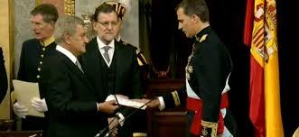 SM REY Felipe Vi Jura la Constitución de España de 1978 en su Proclamación 19 de Junio de 2014