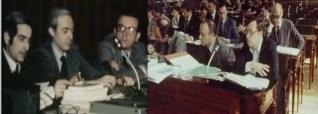 El Congreso de los Diputados seleccionó a un grupo de siete ponentes para que fueran los siete redactores de la Constitución. Tres de ellos pertenecientes a ...http://lahemerotecadelbuitre.com/piezas/el-congreso-y-el-senado-aprueban-la-constitucion-espanola-por-amplia-mayoria/