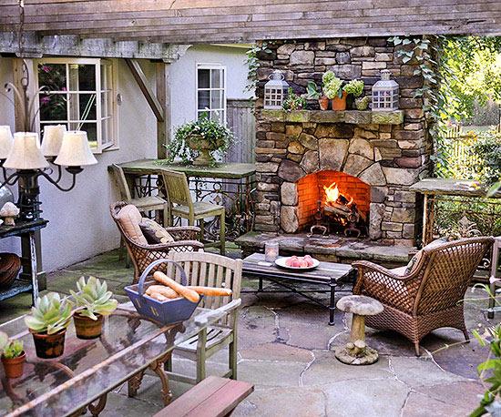 Chimenea de leña para terrazas