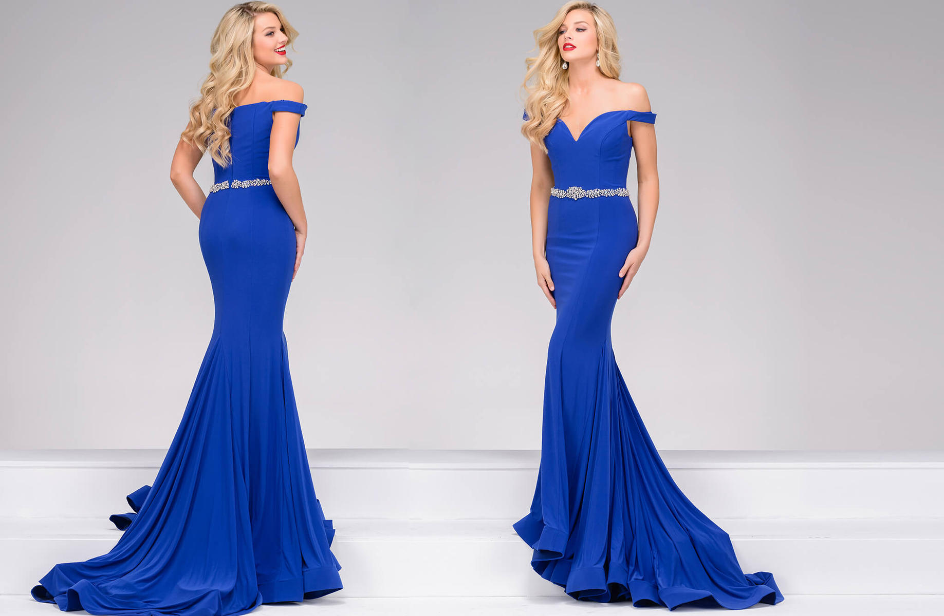 49254 Jovani Off The Shoulder Mermaid Dress Prom Dresses