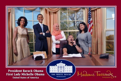 with Obama & Michelle
