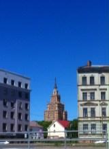 Die Lettische Akademie der Wissenschaften war neben dem Fernsehturm das erste Gebäude, dass uns auffiel