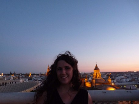 above the city of Seville