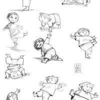 Croquis / Sketches : Capoeira Kids ! ^^