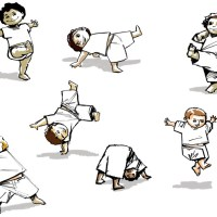 Croquis / Sketches : Capoeira Kids ! ^^ #2