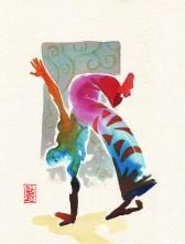 Encres : Capoeira – 333 [ #capoeira #watercolor #illustration]