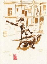 Encres : Capoeira – 336 [ #capoeira #watercolor #illustration]