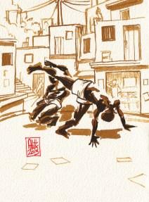 Encres : Capoeira – 337 [ #capoeira #watercolor #illustration]