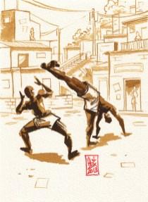 Encres : Capoeira – 339 [ #capoeira #watercolor #illustration]