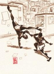 Encres : Capoeira – 342 [ #capoeira #watercolor #illustration]